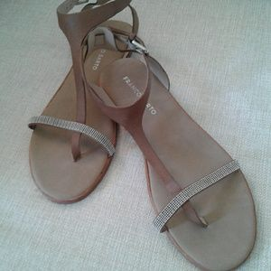 Franco Sarto New Leather Sandals Size 8.5